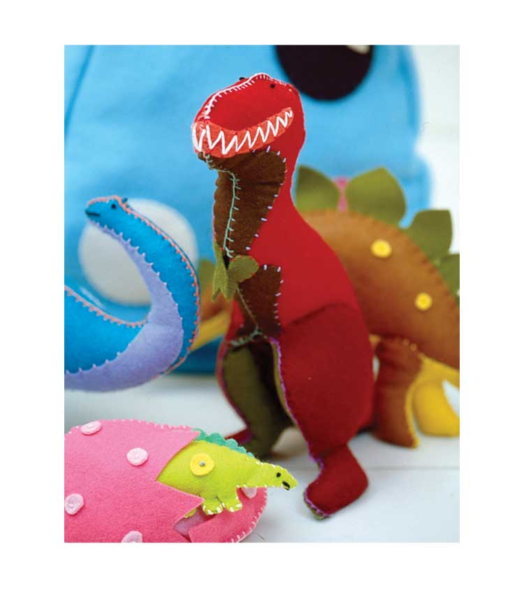 Potter Craft News - Felty T-Rex from Toys to Sew
