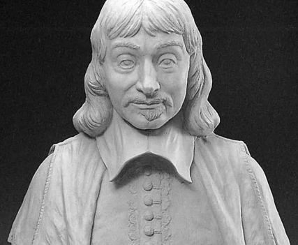 The bust of Descartes