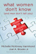 What Women Don't Know (and Men Don't Tell You) - Michelle McKinney Hammond and Joel A. Brooks Jr.