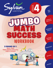 Fourth Grade Super Math Success (Sylvan Super Workbooks) Cover