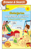 Kindergarten Alphabet Action (Sylvan Fun on the Run Series)