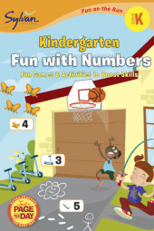 Kindergarten Fun with Numbers (Sylvan Fun on the Run Series) Cover