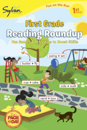 First Grade Reading Roundup (Sylvan Fun on the Run Series) Cover