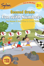 Second Grade Fun with Numbers (Sylvan Fun on the Run Series) Cover