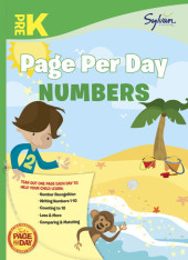 Pre-K Page Per Day: Numbers Cover