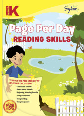 Kindergarten Page Per Day: Reading Skills Cover