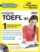 Cracking the TOEFL iBT with Audio CD, 2014 Edition Cover