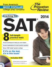 Cracking the SAT with 8 Practice Tests & DVD, 2014 Edition Cover