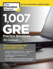 1,007 GRE Practice Questions, 4th Edition Cover