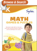 Kindergarten Math Games & Puzzles (Sylvan Workbooks)