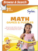 First Grade Math Games & Puzzles (Sylvan Workbooks)