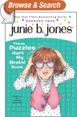 Junie B.'s These Puzzles Hurt My Brain! Book