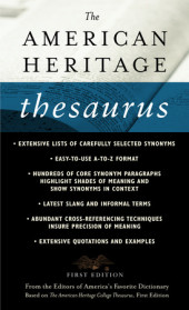 The American Heritage Thesaurus, First Edition Cover
