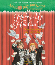 Magic Tree House #50: Hurry Up, Houdini! Cover