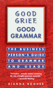 Good Grief, Good Grammar Cover