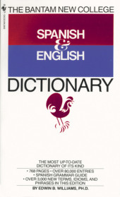 Bantam New College Spanish/English Dictionary Cover