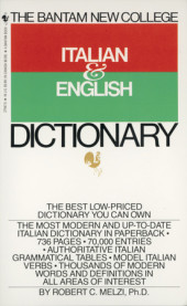 Bantam New College Italian/English Dictionary Cover