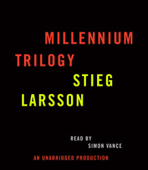 Stieg Larsson Millennium Trilogy Audiobook CD Bundle Cover
