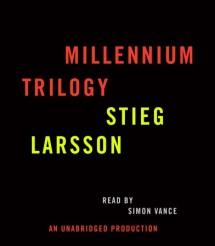 Stieg Larsson Millennium Trilogy Audiobook CD Bundle Cover