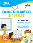 Second Grade Super Games & Puzzles (Sylvan Super Workbooks)