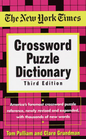 The New York Times Crossword Puzzle Dictionary Cover
