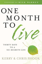 One Month to Live - Optionsl Workbook & Devo Available