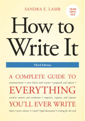 How to Write It, Third Edition Cover