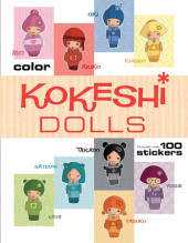 Kokeshi Dolls Coloring Book Cover