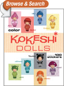 Kokeshi Dolls Coloring Book