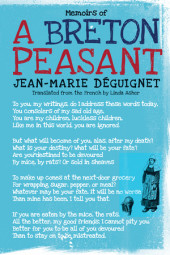 Memoirs of a Breton Peasant Cover