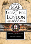 Map of the Great Fire of London, 1666