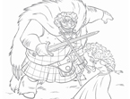 Brave Fergus Coloring Page