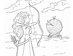Brave Merida Coloring Page