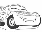 Cars Easter Coloring Page