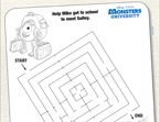 Monsters, Inc. Sulley Maze