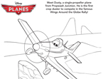 Planes Dusty Coloring Page