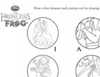 The Princess and the Frog Matching Game