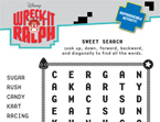 Wreck-It Ralph Sweet Word Search