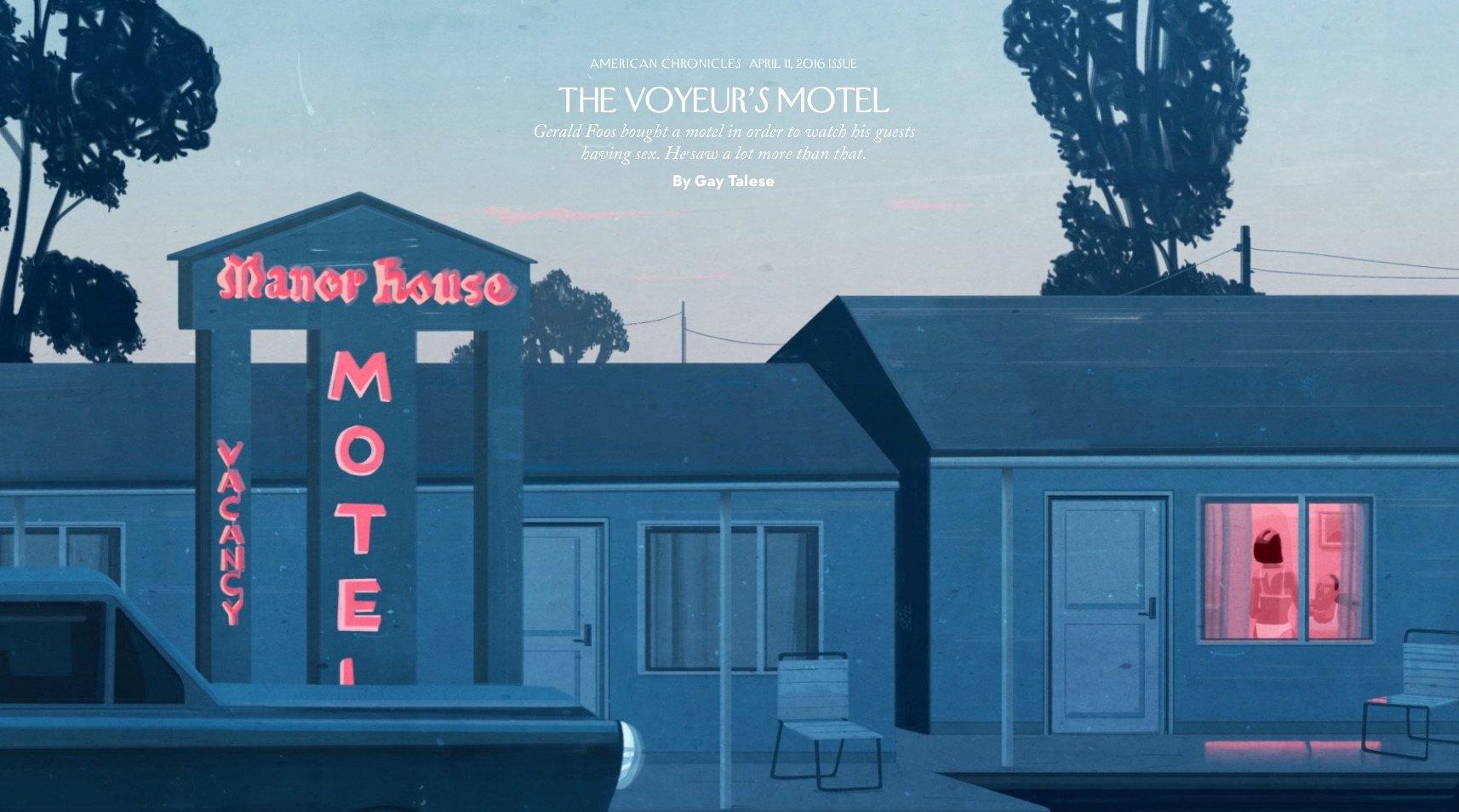 essays gerald foos bought a motel in order to watch his guests having sex he saw a lot more than that the new yorker s excerpt from gay talese s upcoming