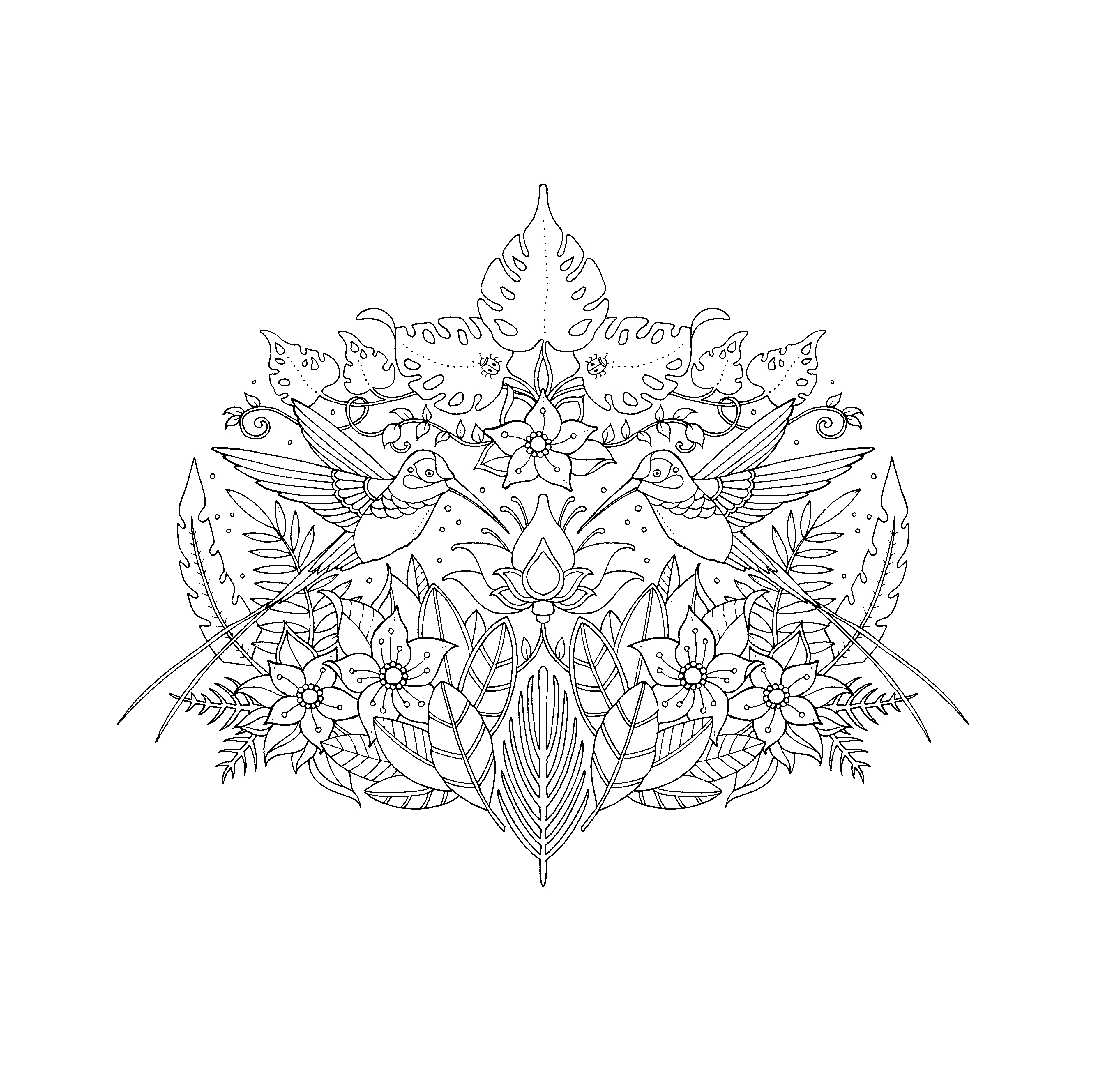 Marvelous Johanna Basford Coloring Pages Photo Inspirations ... | 3750x3767