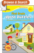 First Grade Word Puzzles (Sylvan Fun on the Run Series)